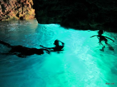青の洞窟 シュノーケル