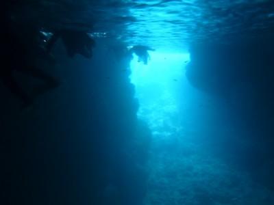 青の洞窟スノーケル写真2