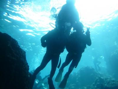 Wコース青の洞窟体験ダイビング編写真