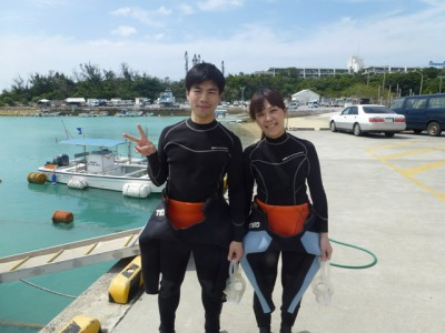Wコース体験ダイビング写真1