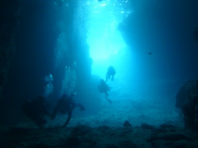 Wコース青の洞窟写真