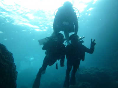 真栄田岬青の洞窟体験ダイビング
