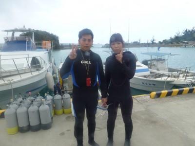 Wコース体験ダイビング編写真1