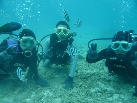 恩納村 体験ダイビング2
