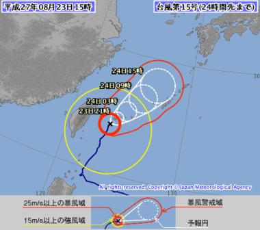 台風15号(コーニー)