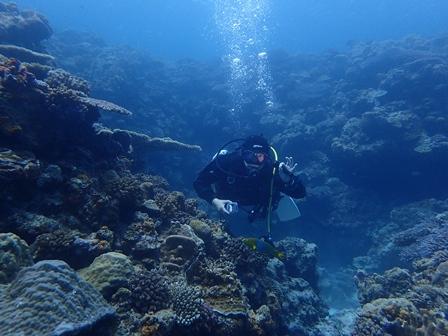 水納島遠征ダイブ