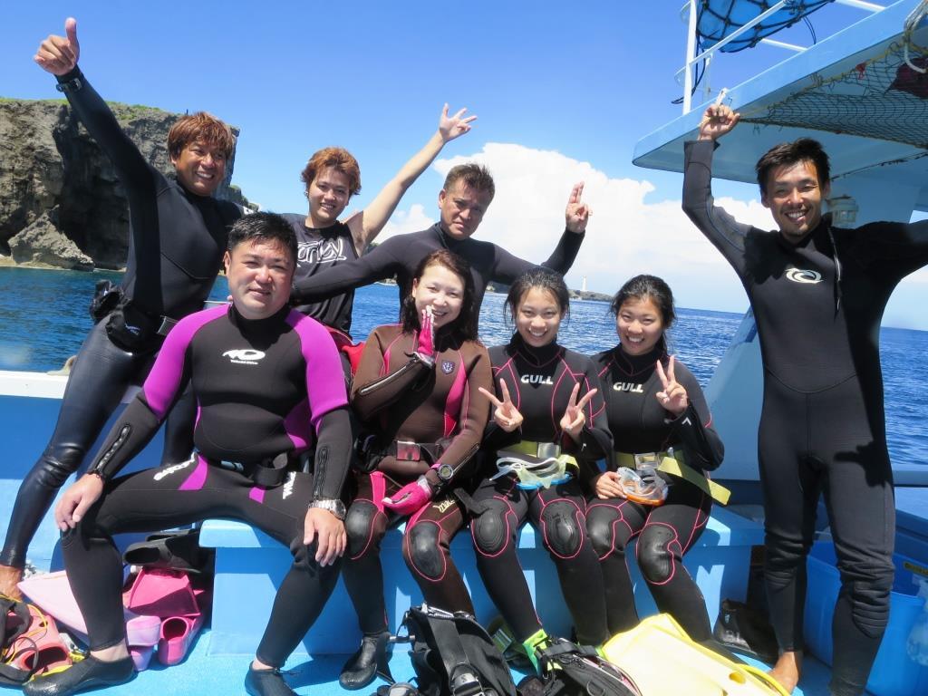 残波岬ボートダイビング|ブルーリーフ